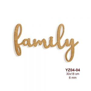 Ahşap Family Yazısı YZ04-04