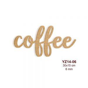 Ahşap Coffee Yazısı YZ14-06