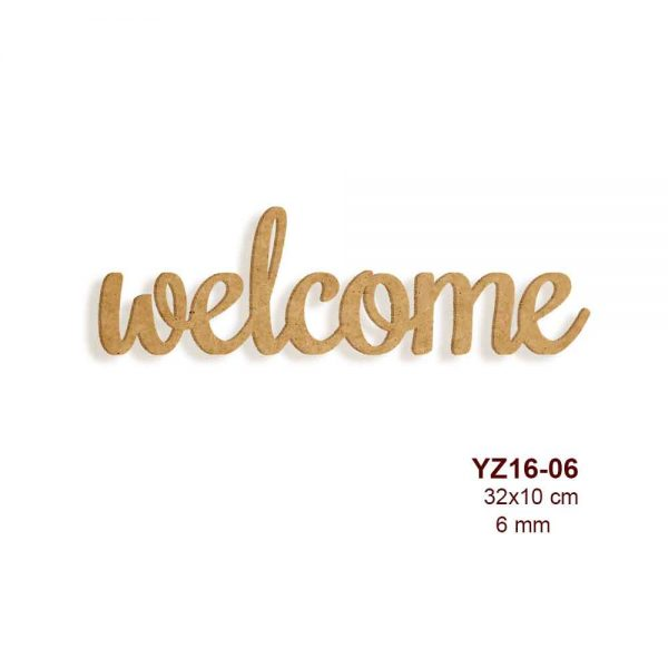 Ahşap Welcome Yazısı YZ16-06