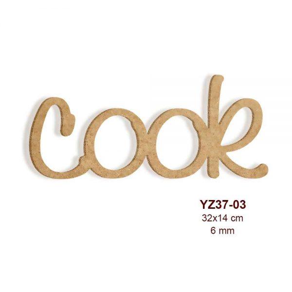 Ahşap Cook Yazısı YZ37-03