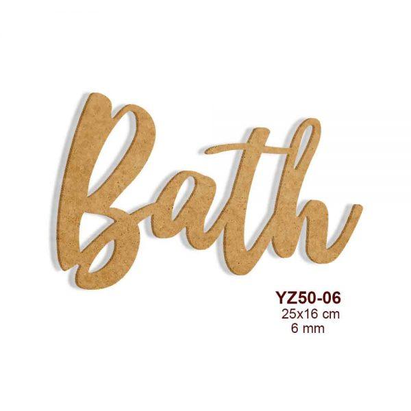 Ahşap Bath Yazısı YZ50-06
