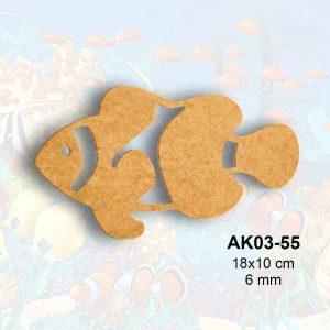 Ahşap Palyaço Balığı AK03-55 1