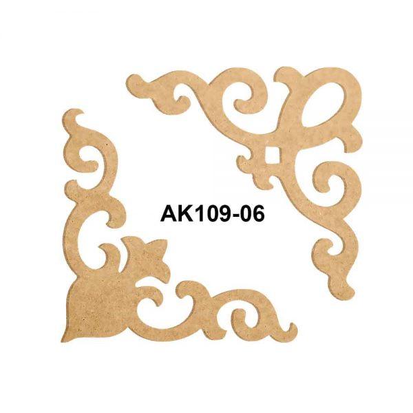 Köşe Motif Ahşap Obje AK109-06