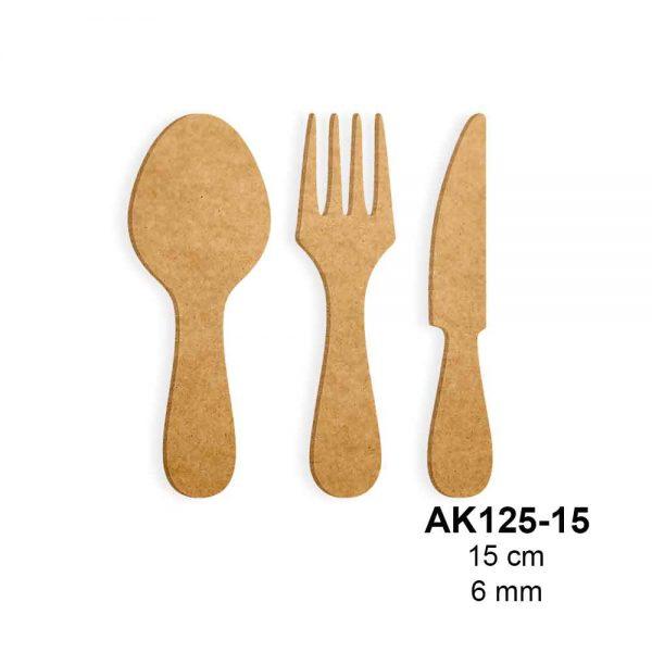 Ahşap Boyama Çatal Kaşık Bıçak AK125-15