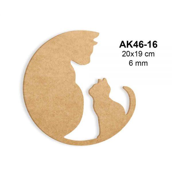 Ahşap Boyama İçin Kediler AK46-16