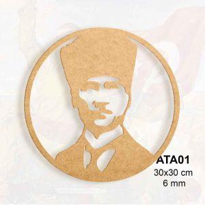Ahşap Atatürk Pano ATA01 1