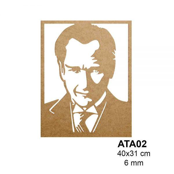 Ahşap Atatürk Portresi ATA02