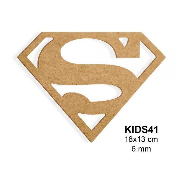Ahşap Obje Süpermen Logo KIDS41
