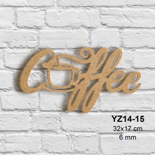 Ahşap Coffee Yazısı YZ14-15