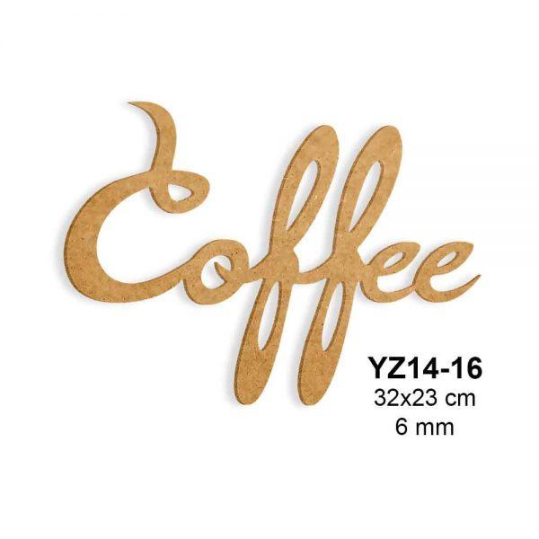 Ahşap Boyama Coffe Yazısı YZ14-16