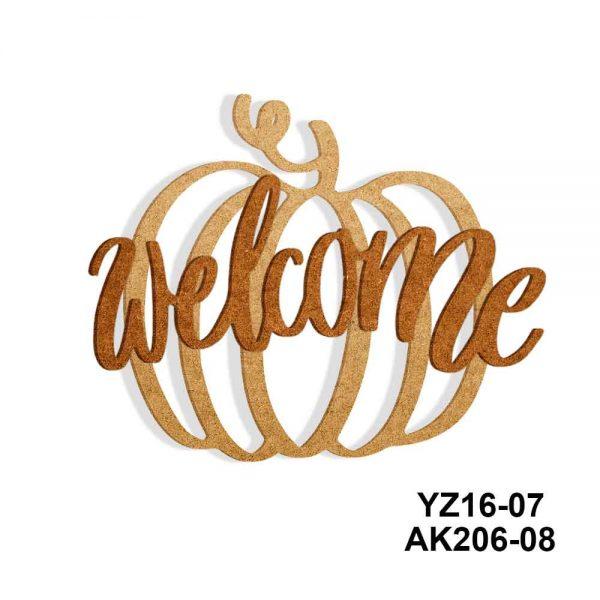 Ahşap Welcome Yazısı YZ16-07