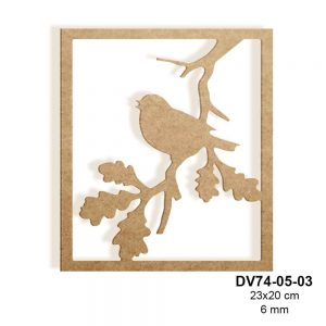 Ahşap Kuşlu Çerçeve DV74-05-03