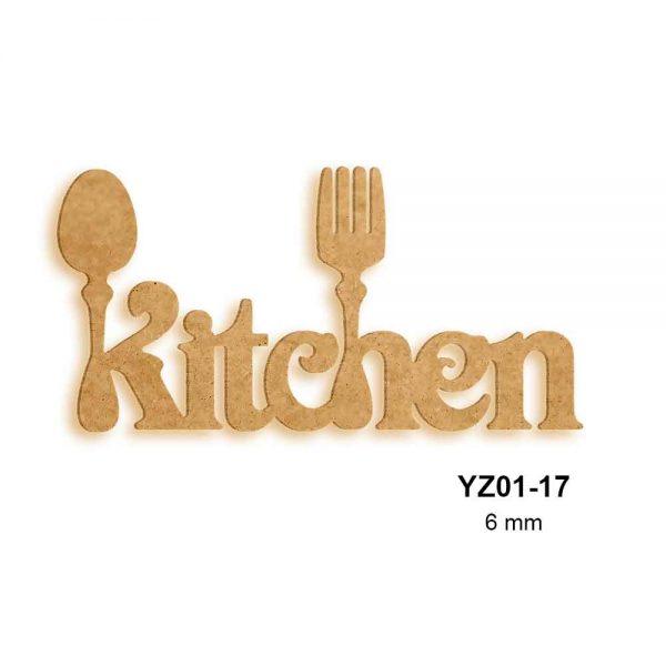 Ahşap Kitchen Yazısı YZ01-17