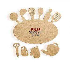 Ahşap Mutfak Panosu PN35 4
