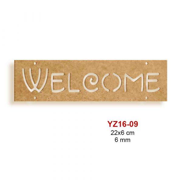 Ahşap Welcome Panosu Yz16-09