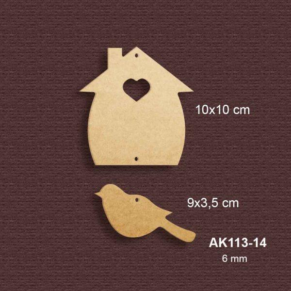 Kuşlu Minyatür Ev AK113-14