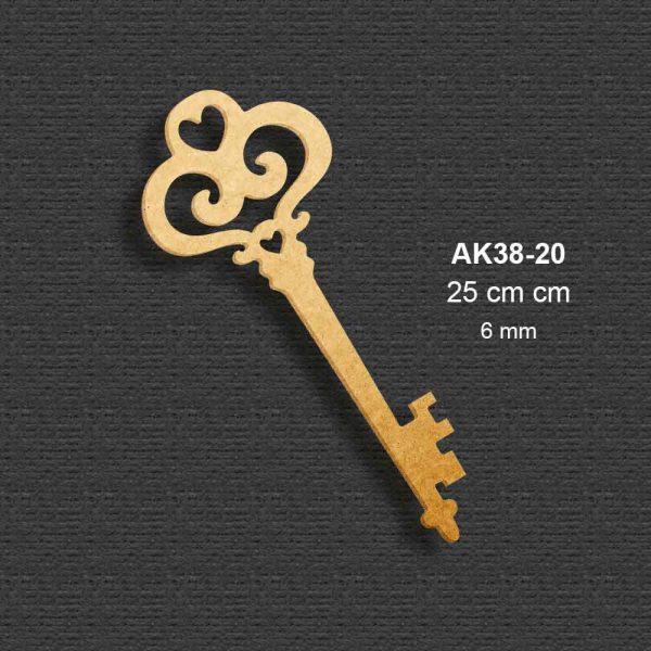 Ahşap İskelet Anahtar AK38-20