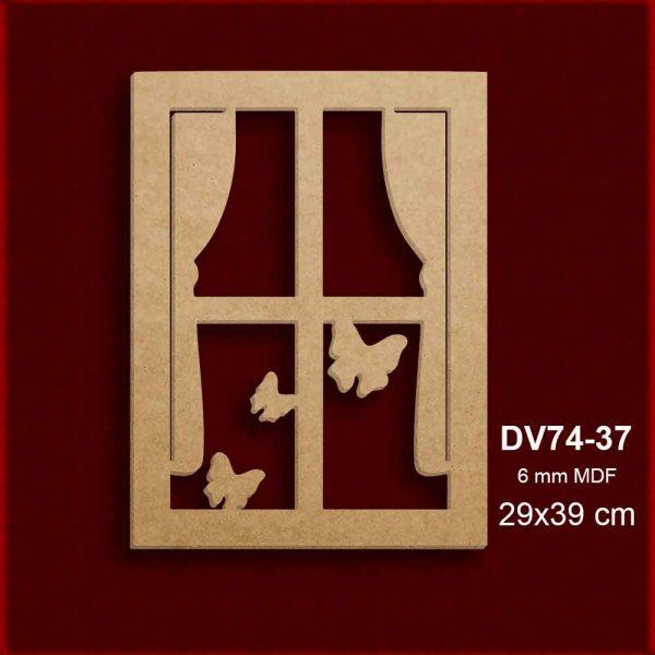 Kelebekli Pencere Pano DV74-37