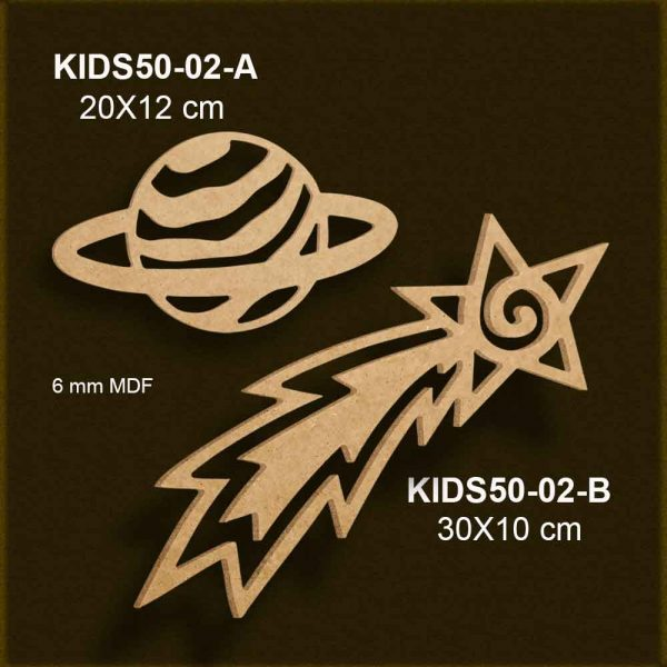 Gezegen ve Kayan Yıldız KIDS50-02