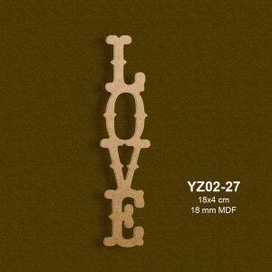 Ahşap Love Yazısı YZ02-27