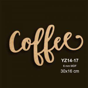 Ahşap Coffee Yazısı YZ14-17